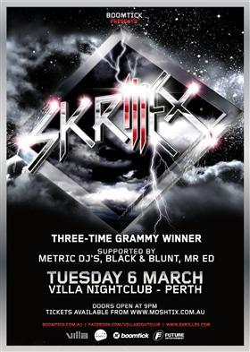 Skrillex tour dates in Sydney