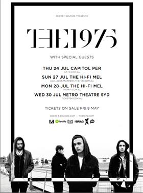 The 1975 tour dates in Sydney